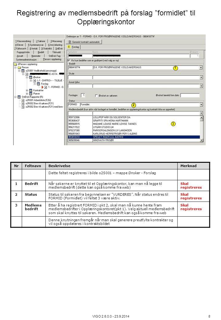 Registrering av medlemsbedrift på forslag formidlet til Opplæringskontor