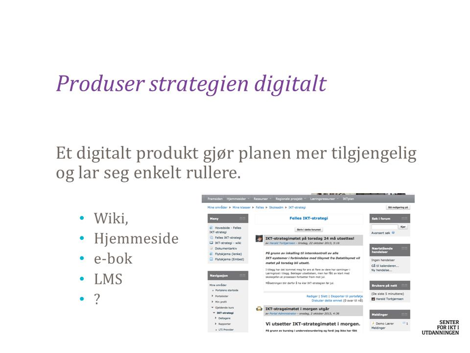 Produser strategien digitalt