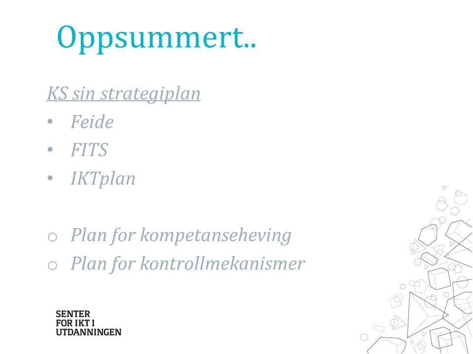 Oppsummert.. KS sin strategiplan Feide FITS IKTplan