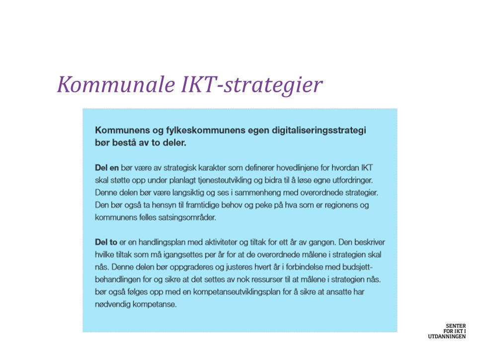 Kommunale IKT-strategier