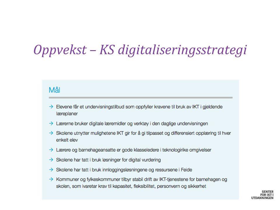 Oppvekst – KS digitaliseringsstrategi