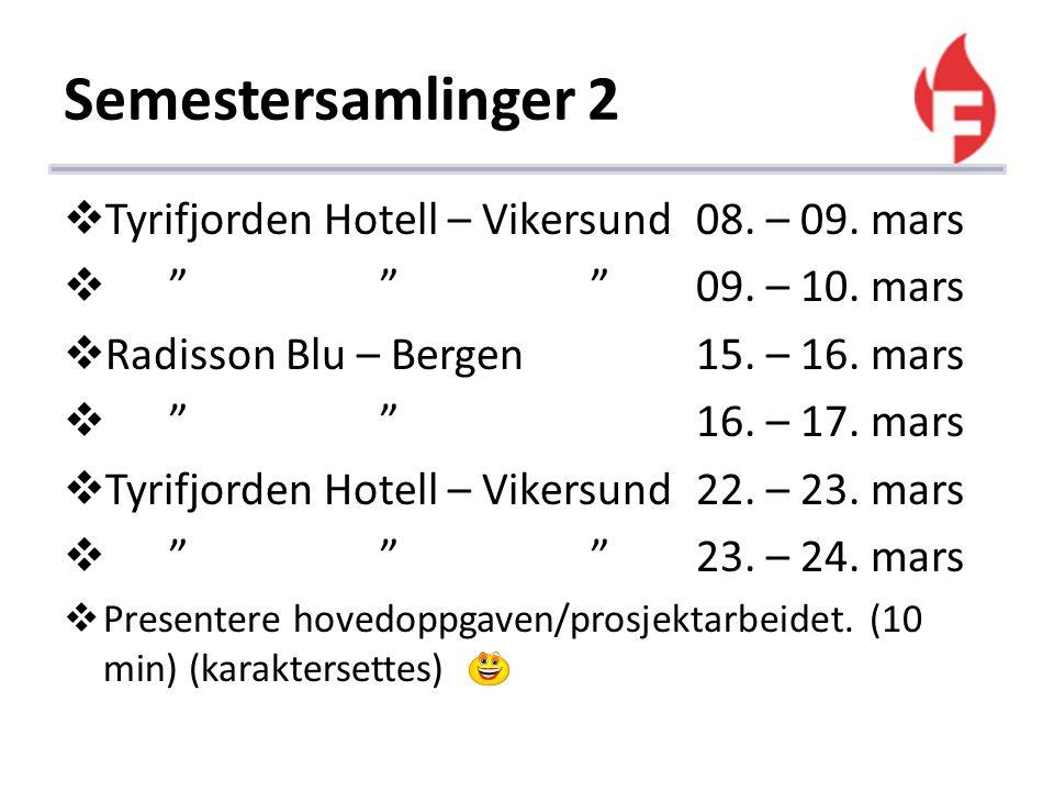 Semestersamlinger 2 Tyrifjorden Hotell – Vikersund 08. – 09. mars