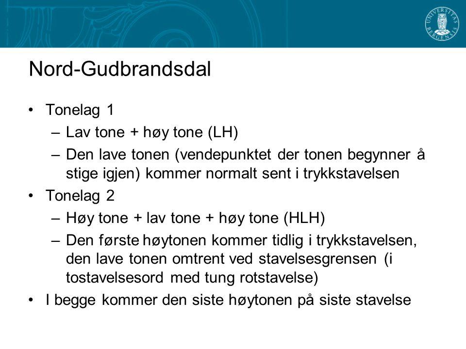 Nord-Gudbrandsdal Tonelag 1 Lav tone + høy tone (LH)