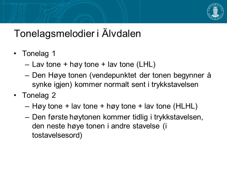 Tonelagsmelodier i Älvdalen