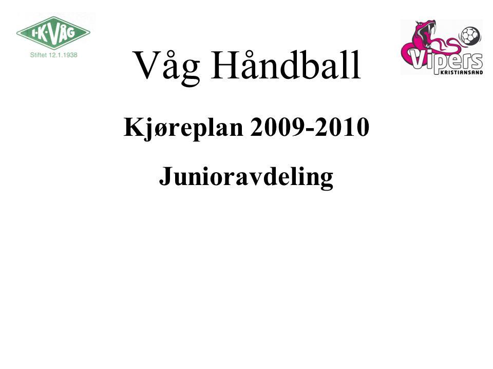 Våg Håndball Kjøreplan 2009-2010 Junioravdeling