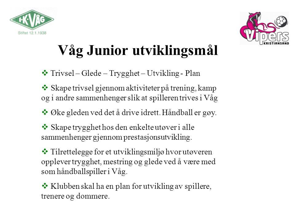 Våg Junior utviklingsmål
