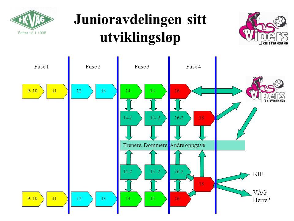 Junioravdelingen sitt utviklingsløp
