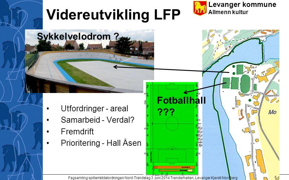 Videreutvikling LFP Sykkelvelodrom Fotballhall