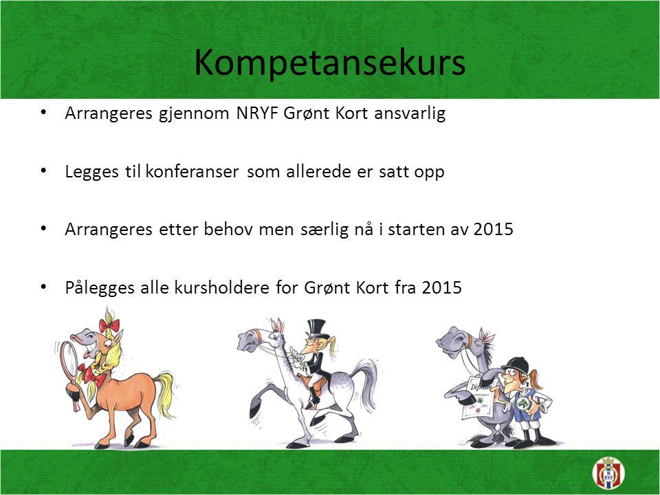 Kompetansekurs Arrangeres gjennom NRYF Grønt Kort ansvarlig
