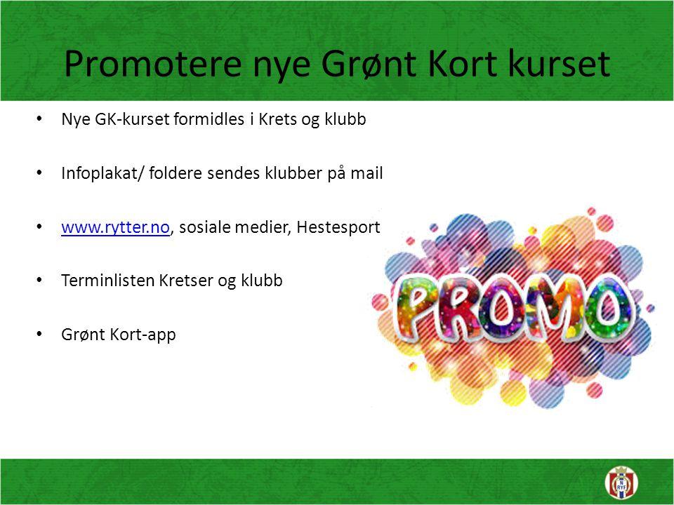 Promotere nye Grønt Kort kurset