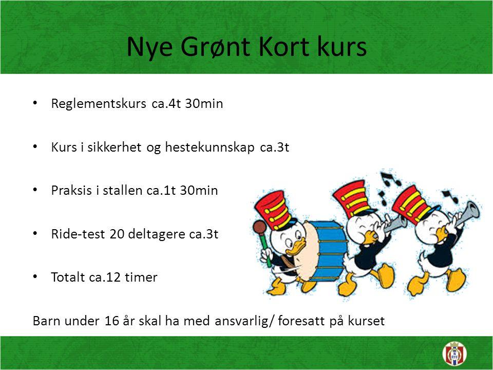 Nye Grønt Kort kurs Reglementskurs ca.4t 30min
