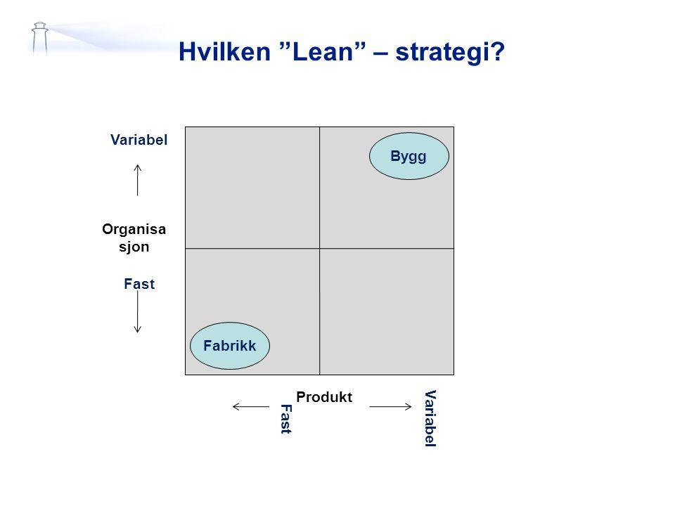 Hvilken Lean – strategi