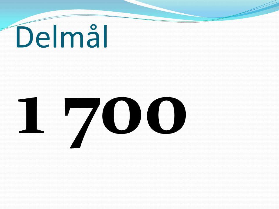 Delmål 1 700