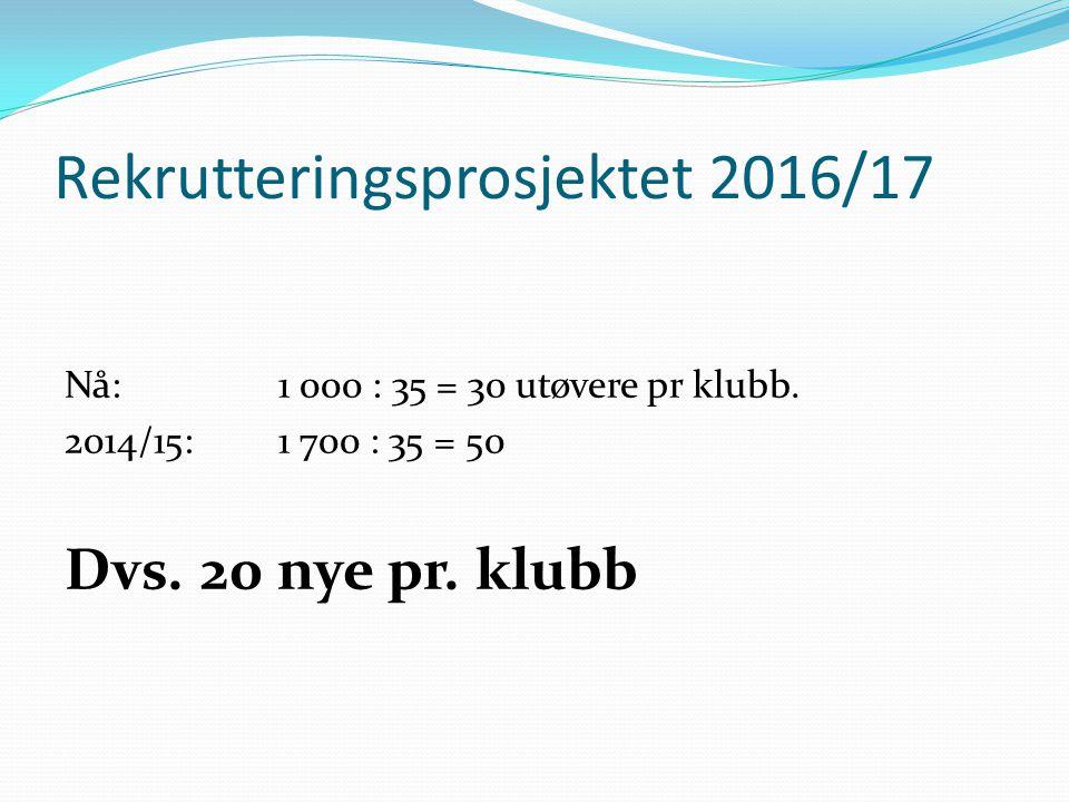 Rekrutteringsprosjektet 2016/17