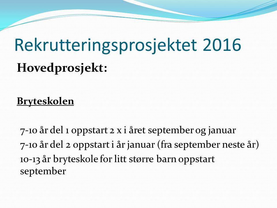 Rekrutteringsprosjektet 2016