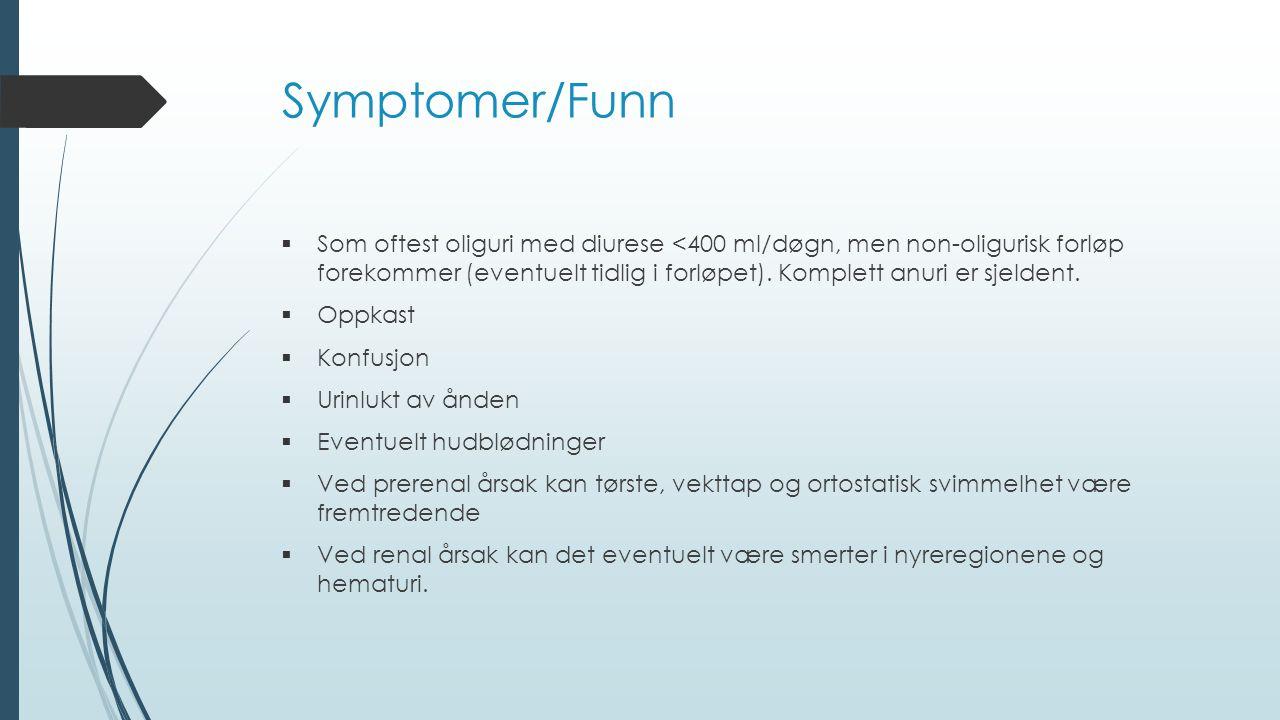 Symptomer/Funn