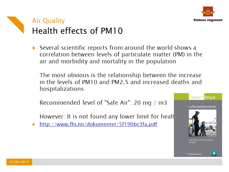 Health effects of PM10 Air Quality