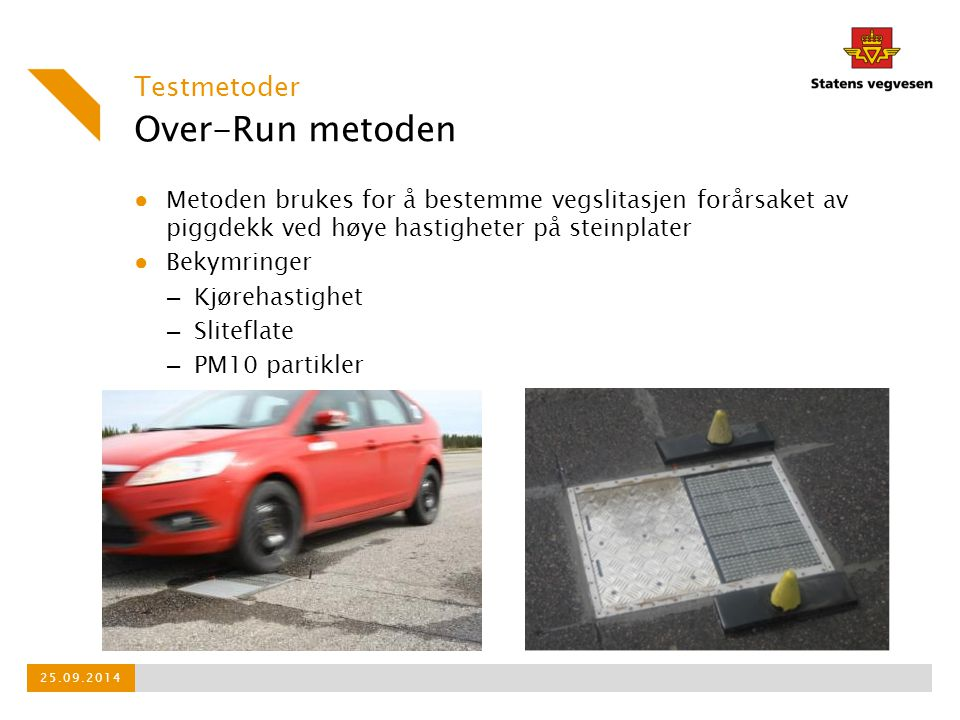 Over-Run metoden Testmetoder