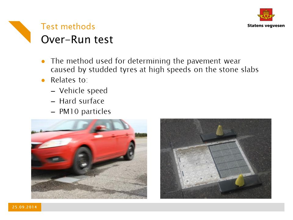 Over-Run test Test methods
