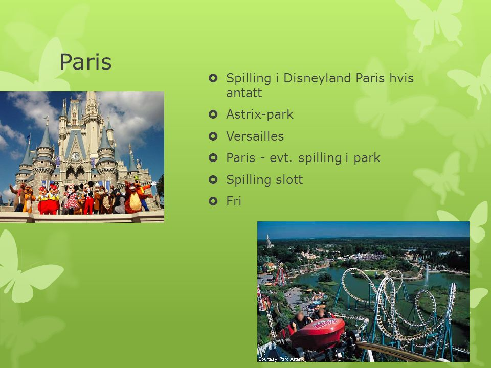 Paris Spilling i Disneyland Paris hvis antatt Astrix-park Versailles