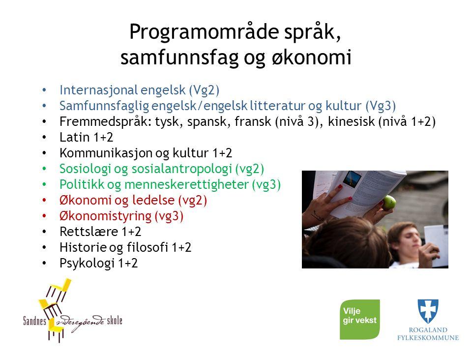 Programområde språk, samfunnsfag og økonomi
