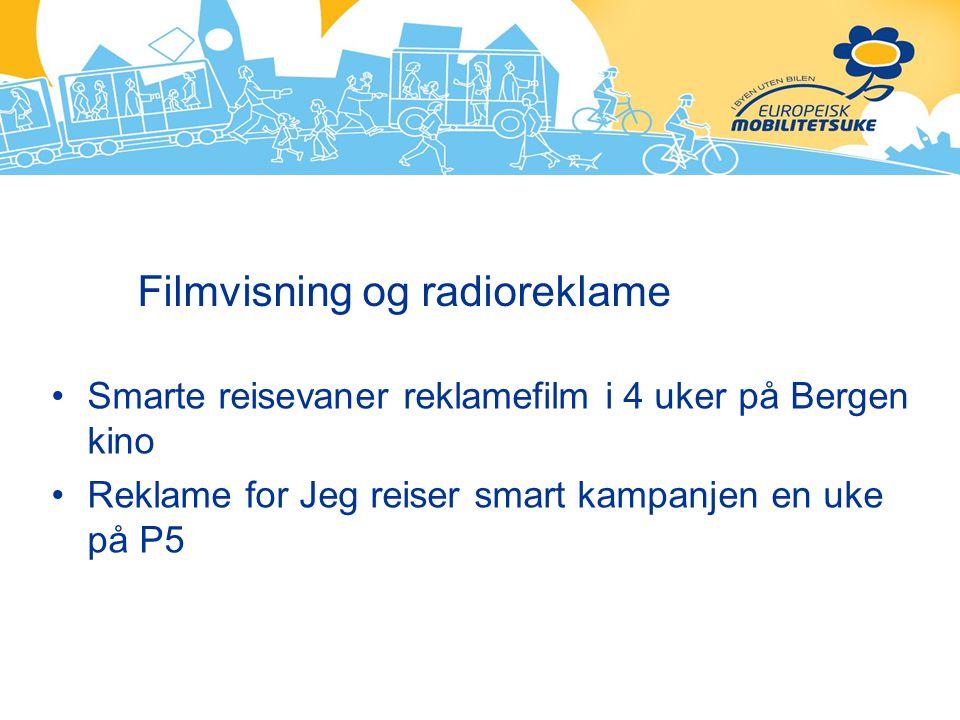 Filmvisning og radioreklame