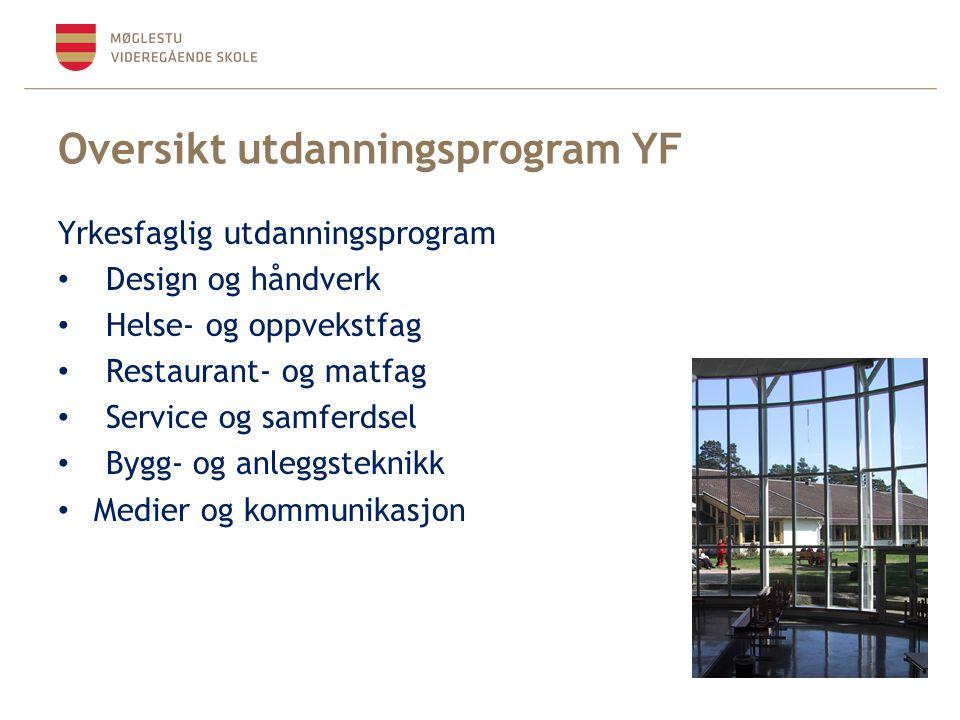 Oversikt utdanningsprogram YF
