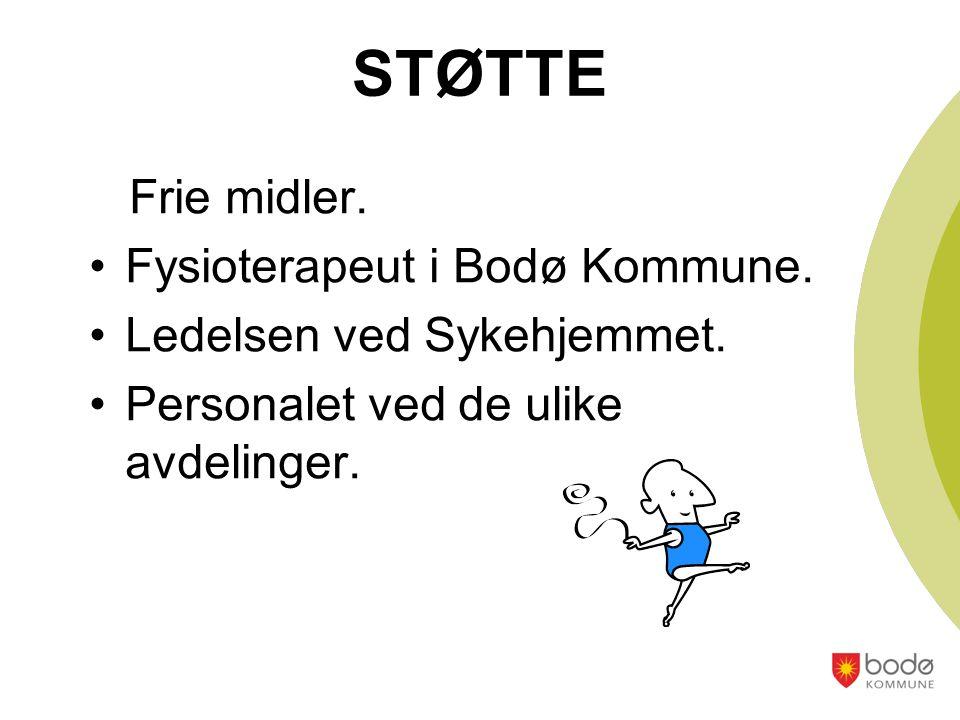 STØTTE Frie midler. Fysioterapeut i Bodø Kommune.