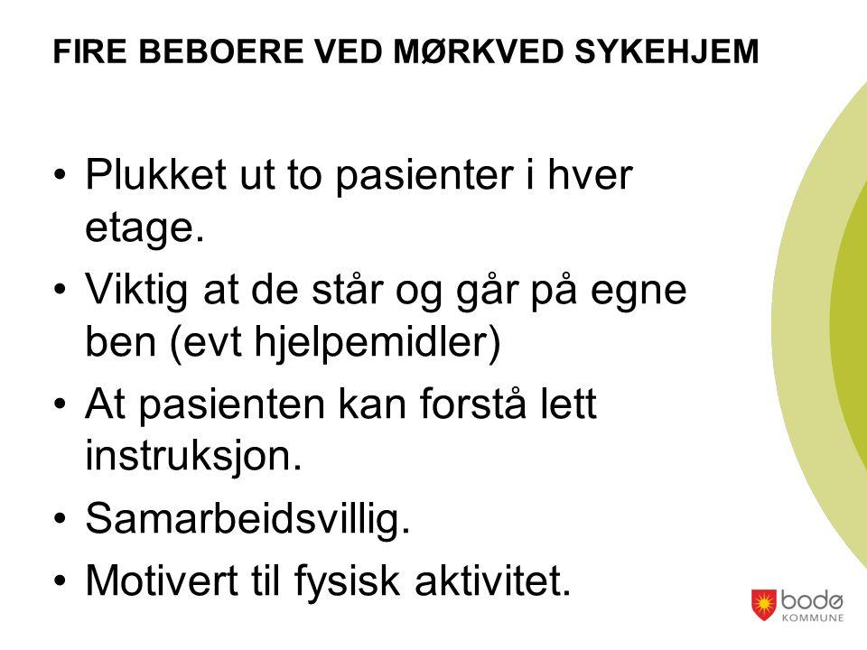 FIRE BEBOERE VED MØRKVED SYKEHJEM