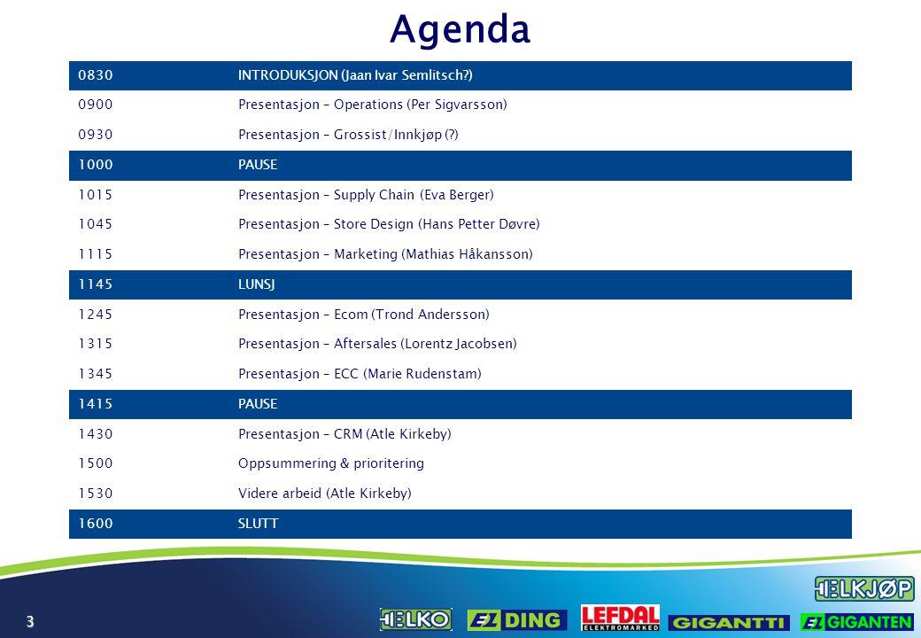 Agenda 0830 INTRODUKSJON (Jaan Ivar Semlitsch ) 0900