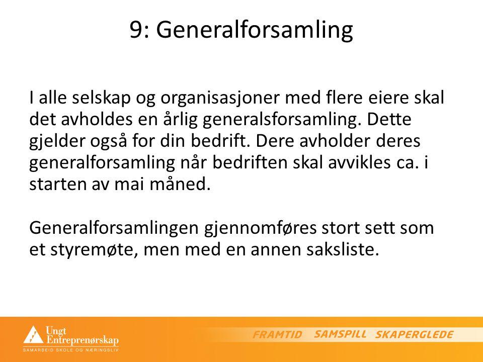 9: Generalforsamling