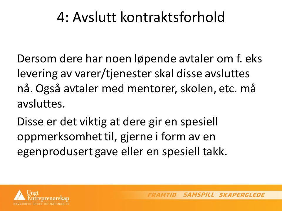 4: Avslutt kontraktsforhold