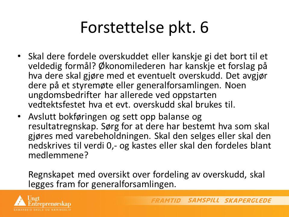 Forstettelse pkt. 6