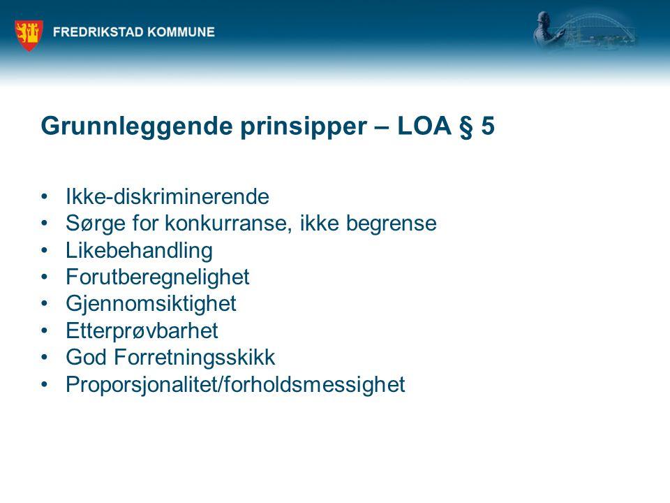 Grunnleggende prinsipper – LOA § 5