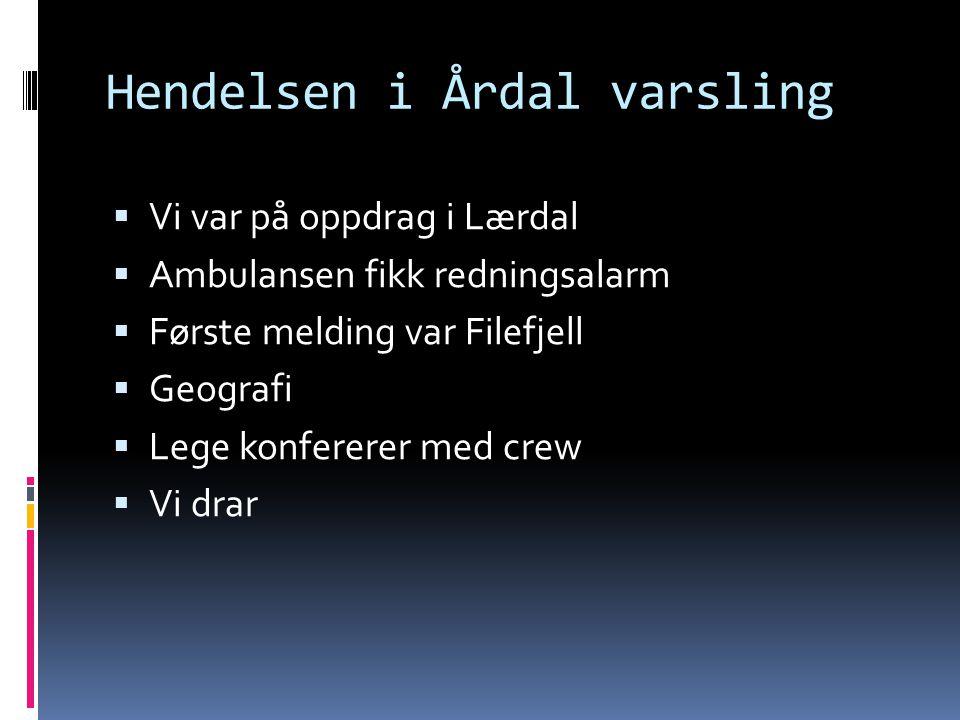 Hendelsen i Årdal varsling