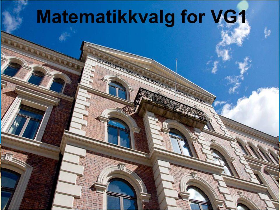 Matematikkvalg for VG1