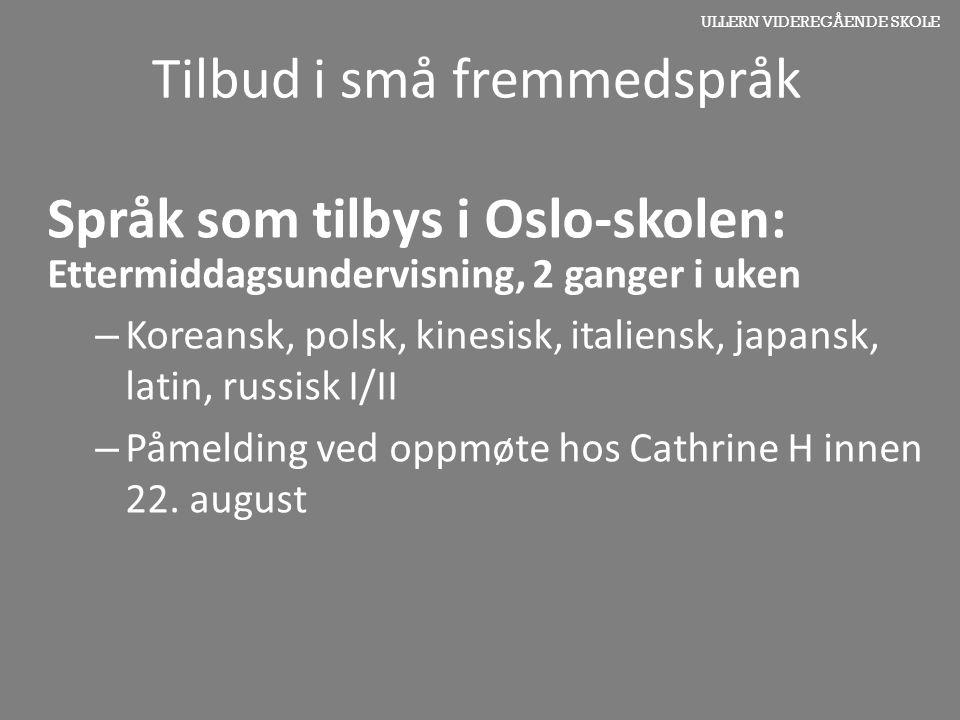 Tilbud i små fremmedspråk