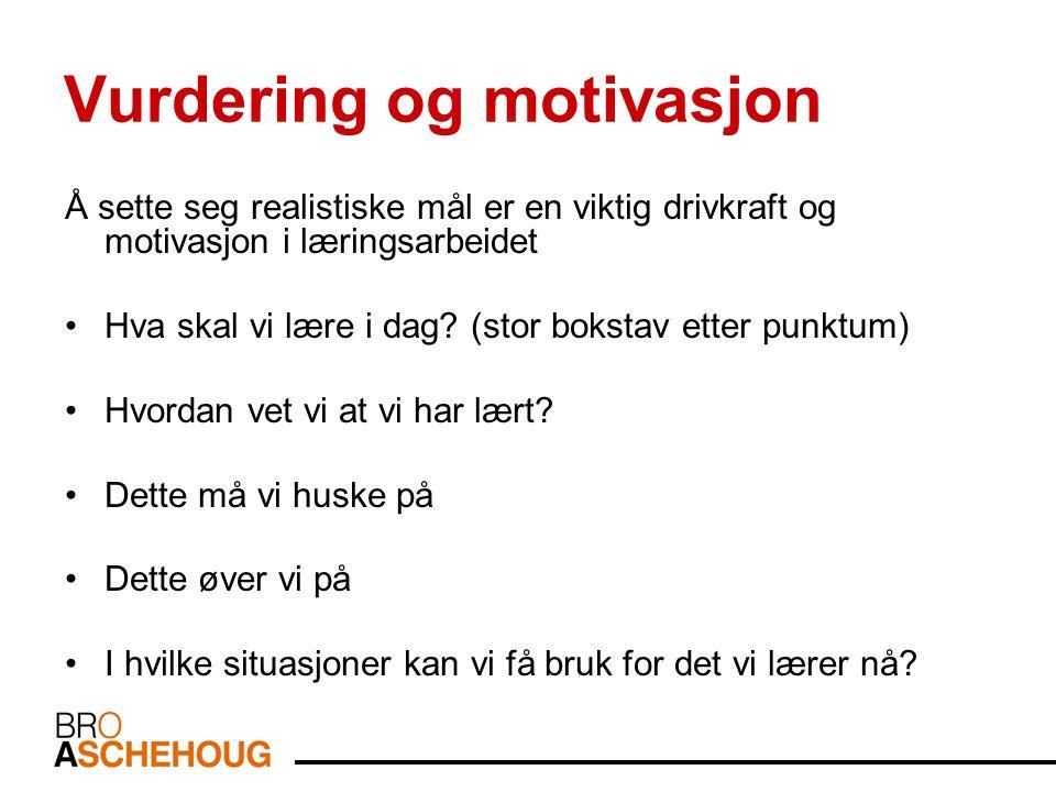 Vurdering og motivasjon