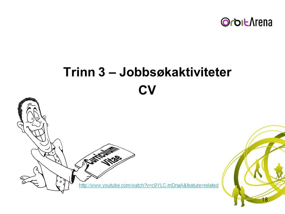 Trinn 3 – Jobbsøkaktiviteter