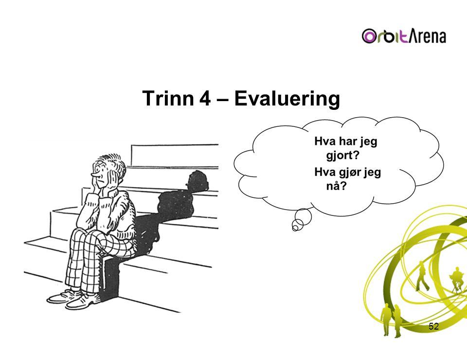 Trinn 4 – Evaluering