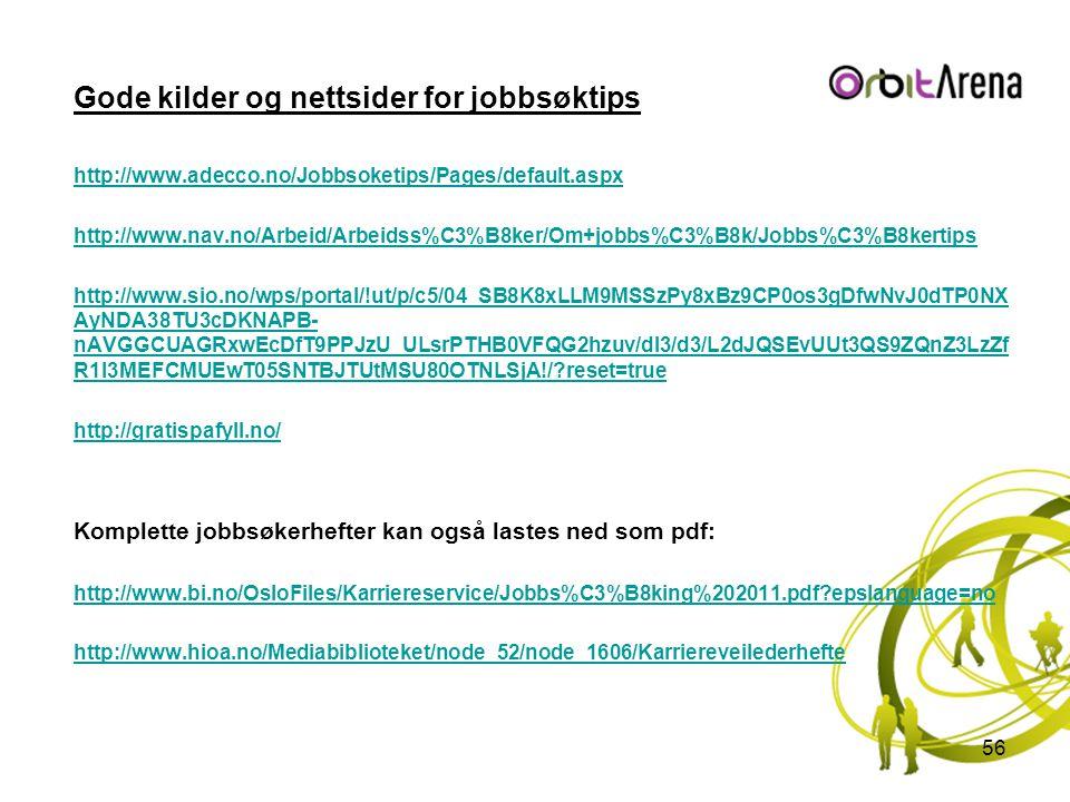 Gode kilder og nettsider for jobbsøktips
