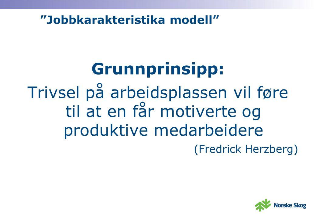 Jobbkarakteristika modell