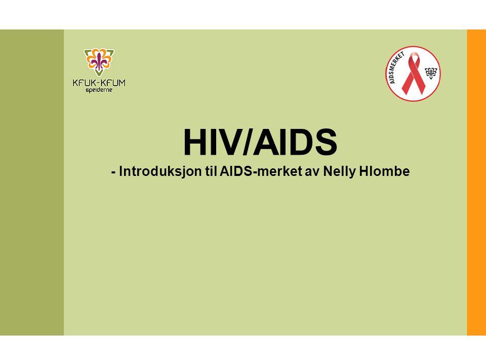 - Introduksjon til AIDS-merket av Nelly Hlombe