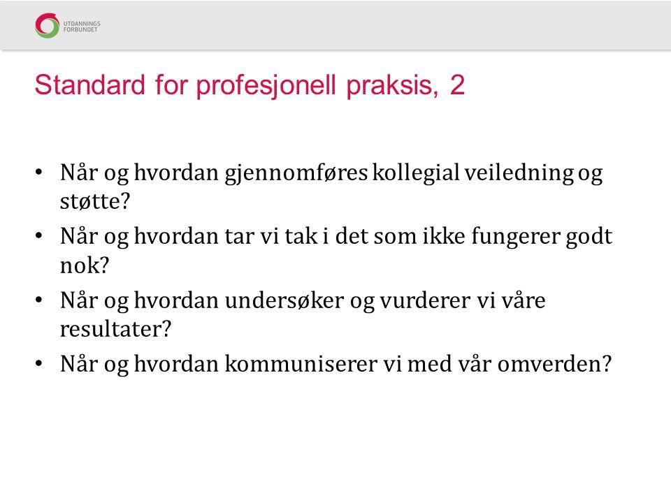 Standard for profesjonell praksis, 2