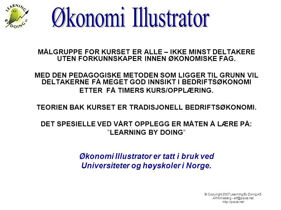 Økonomi Illustrator er tatt i bruk ved