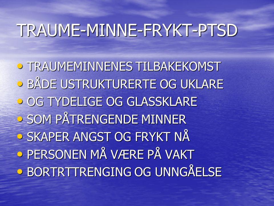 TRAUME-MINNE-FRYKT-PTSD
