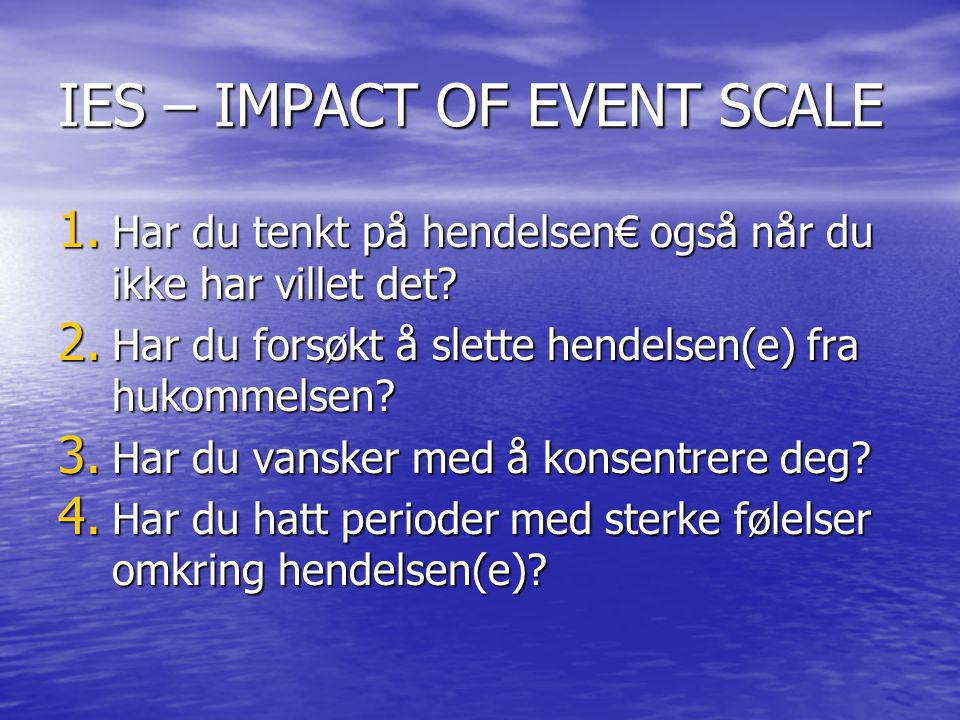 IES – IMPACT OF EVENT SCALE