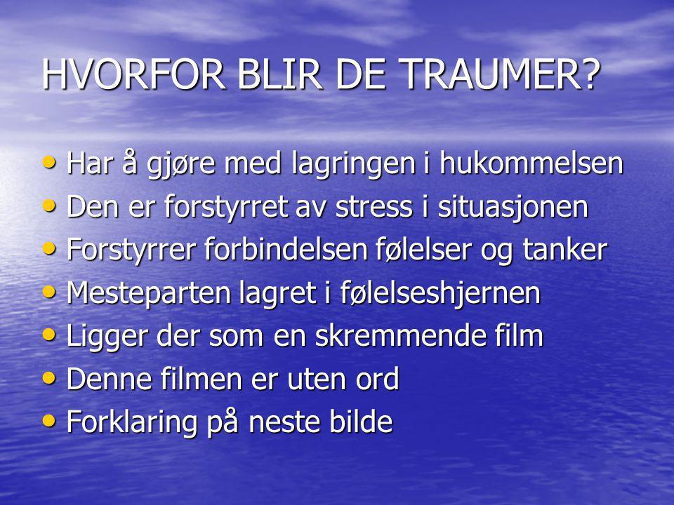 HVORFOR BLIR DE TRAUMER