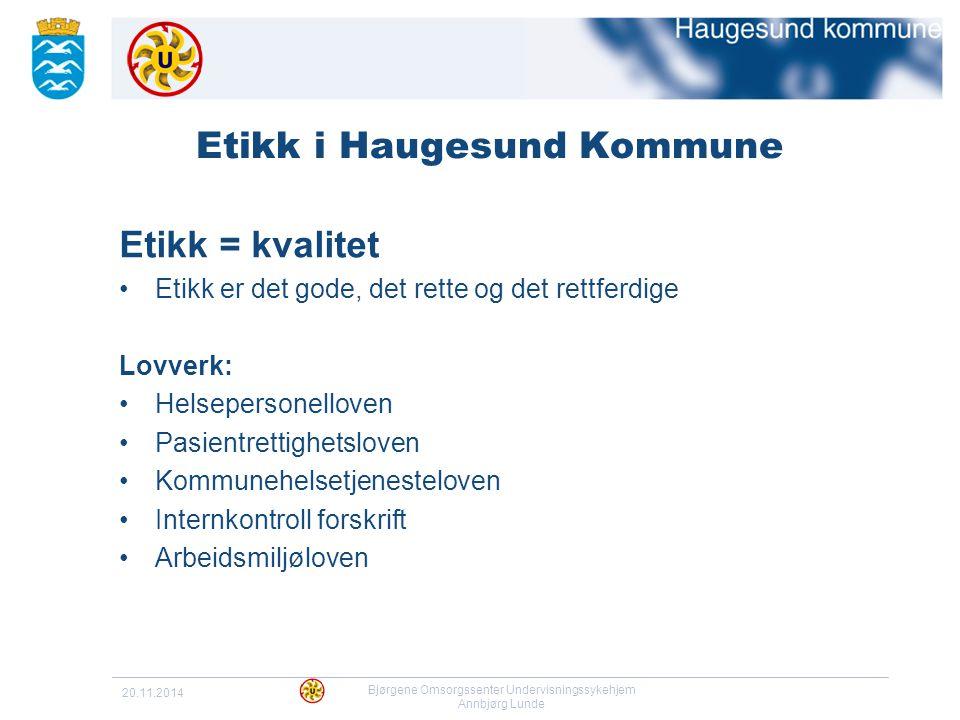 Etikk i Haugesund Kommune