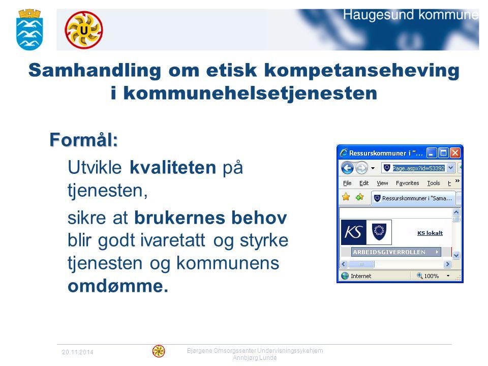 Samhandling om etisk kompetanseheving i kommunehelsetjenesten